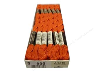 DMC Pearl Cotton Skein Size 5 #900 Dark Burnt Orange (12 skeins)