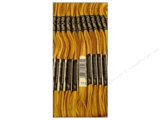 Variegated Floss: DMC Six-Strand Embroidery Floss #111 Variegated Mustard (12 skeins)