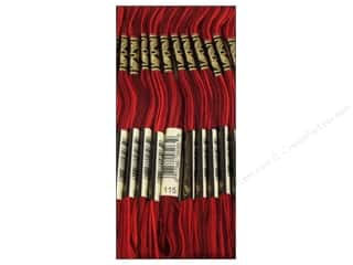 Variegated Floss: DMC Six-Strand Embroidery Floss #115 Variegated Garnet (12 skeins)