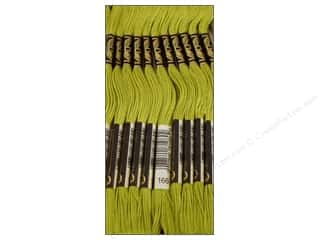 embroidery floss: DMC Six-Strand Embroidery Floss #166 Medium Light Moss Green (12 skeins)