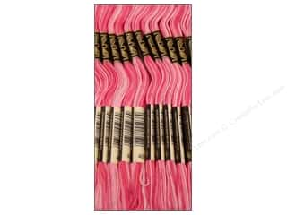 Variegated Floss: DMC Six-Strand Embroidery Floss #48 Variegated Baby Pink (12 skeins)