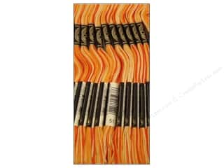 Variegated Floss: DMC Six-Strand Embroidery Floss #51 Variegated Bright Orange (12 skeins)