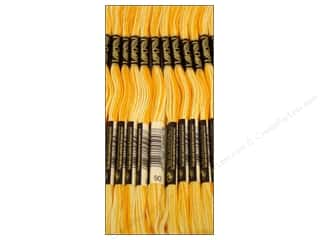 Variegated Floss: DMC Six-Strand Embroidery Floss #90 Variegated Yellow (12 skeins)