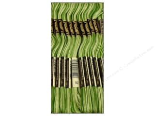 Variegated Floss: DMC Six-Strand Embroidery Floss #92 Variegated Avocado (12 skeins)