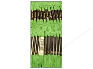 embroidery floss: DMC Six-Strand Embroidery Floss #703 Chartreuse (12 skeins)