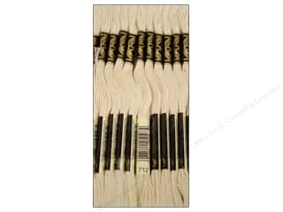 embroidery floss: DMC Six-Strand Embroidery Floss #712 Cream (12 skeins)