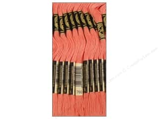 embroidery floss: DMC Six-Strand Embroidery Floss #760 Salmon (12 skeins)