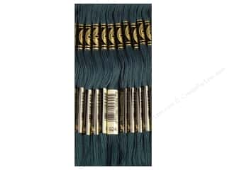embroidery floss: DMC Six-Strand Embroidery Floss #924 Very Dark Grey Green (12 skeins)