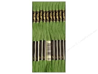 yarn & needlework: DMC Six-Strand Embroidery Floss #989 Forest Green (12 skeins)