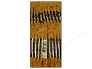 DMC Six-Strand Embroidery Floss #3829 Very Dark Old Gold (12 skeins)