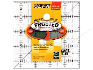 quilt rectangular square ruler: Olfa Frosted Acrylic Ruler 4 1/2 x 4 1/2 in. Square