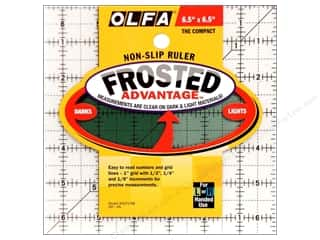 quilt rectangular square ruler: Olfa Frosted Acrylic Ruler 6 1/2 x 6 1/2 in. Square