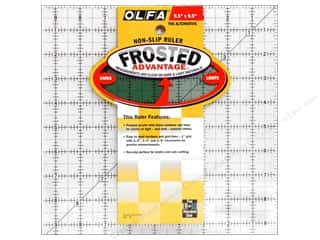 quilt rectangular square ruler: Olfa Frosted Acrylic Ruler 9 1/2 x 9 1/2 in. Square