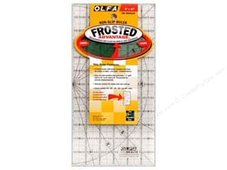 ruler: Olfa Frosted Acrylic Ruler 6 x 12 in.