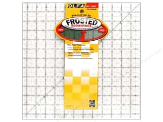 ruler: Olfa Frosted Acrylic Ruler 12 1/2 x 12 1/2 in. Square