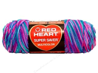 yarn & needlework: Red Heart Super Saver Yarn 236 yd. #0784 Bonbon Print