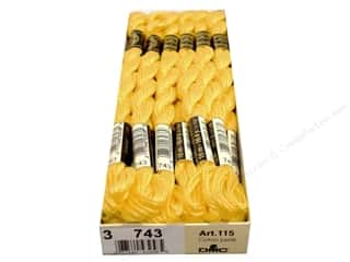 yarn & needlework: DMC Pearl Cotton Skein Size 3 #743 Medium Yellow (12 skeins)