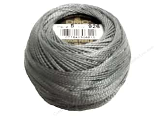 yarn & needlework: DMC Pearl Cotton Ball Size 8 #0926 Medium Green Grey (10 balls)