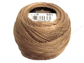 yarn & needlework: DMC Pearl Cotton Ball Size 8 #841 Light Beige Brown (10 balls)