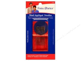 Fons & Porter Notions Needles Hand Wool Applique 10pc
