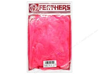Zucker Feather Turkey Marabou Feathers 1/4 oz. Large Pink Orient