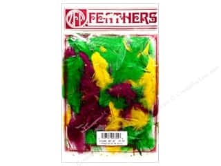 Zucker Feather Turkey Marabou Feathers 1/4 oz. Large Mardi Gras Mix