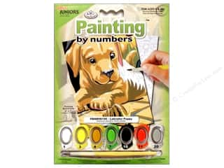 craft & hobbies: Royal Paint By Number Kit Mini Labrador Puppy