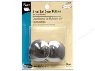 Buttons: Dritz Half Ball Cover Buttons - 1 1/2 in. 2 pc.