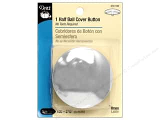 Buttons: Cover Buttons by Dritz Half Ball 2 1/2 in 1 pc.