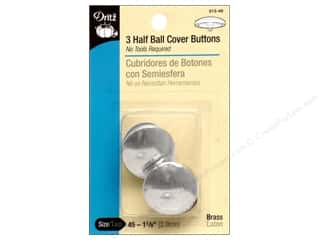 Buttons: Dritz Half Ball Cover Buttons - 1 1/8 in. 3 pc.