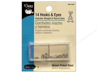 Hooks and Eyes by Dritz Size 0 Nickel 14pc.