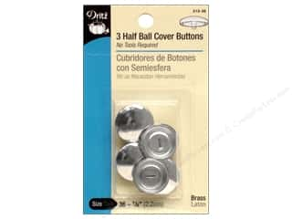 cover button: Cover Buttons by Dritz Half Ball 7/8 in. 3 pc.