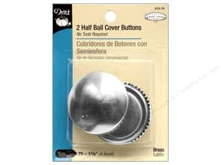 Buttons: Dritz Half Ball Cover Buttons - 1 7/8 in. 2 pc.