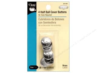 Buttons: Dritz Half Ball Cover Buttons - 3/4 in 4 pc.
