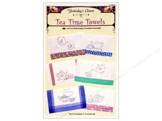 Yesterday's Charm Tea Time Towels Iron On Pattern