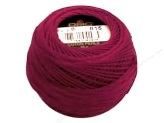 mettler mercerized cotton thread: DMC Pearl Cotton Ball Size 8 #815 Medium Garnet (10 balls)