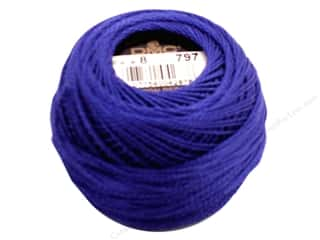 yarn & needlework: DMC Pearl Cotton Ball Size 8 #797 Royal Blue (10 balls)
