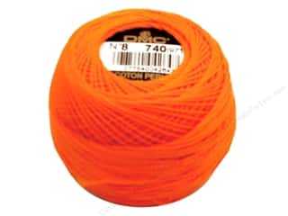 yarn & needlework: DMC Pearl Cotton Ball Size 8 #0740 Tangerine (10 balls)