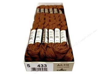 yarn & needlework: DMC Pearl Cotton Skein Size 5 #433 Medium Brown (12 skeins)