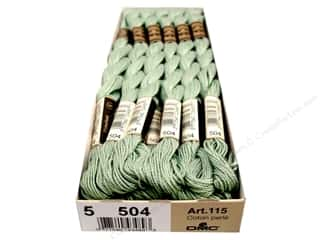 yarn & needlework: DMC Pearl Cotton Skein Size 5 #504 Very Light Blue Green (12 skeins)