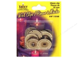 Yaley Candle Wick Clips 12 pc. 20 mm Round