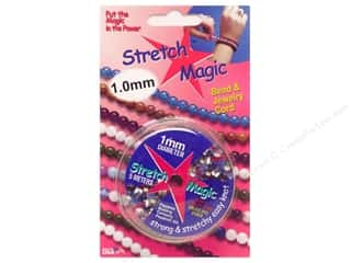 beading & jewelry making supplies: Stretch Magic Beading Cord 1mm x 16.4 ft. Clear