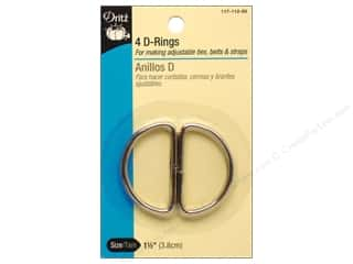 "1"" D rings: D Rings by Dritz 1 1/2 in. Nickel 4pc."