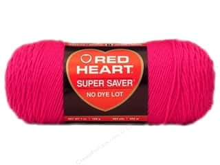 Red Heart Super Saver Yarn 364 yd. #0718 Shocking Pink
