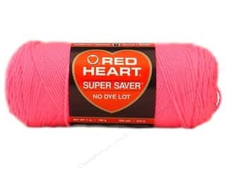 Red Heart Super Saver Yarn #0722 Pretty N Pink 364 yd.