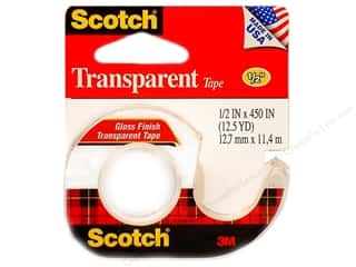 glues, adhesives & tapes: Scotch Tape Transparent 1/2 in. x 450 in.