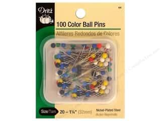 Dritz Color Ball Pins Size 20 100 pc.