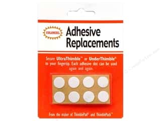 Colonial Needle Thimble Adhesive Replacements 8 pc.