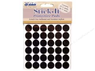 CPE Stick It Pads Felt Dots Brown