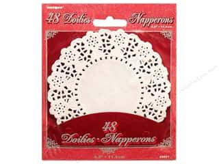 Unique Paper Lace Doilies Round 4 1/2 in. White 48 pc.